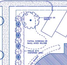 Landscape architecture blueprint