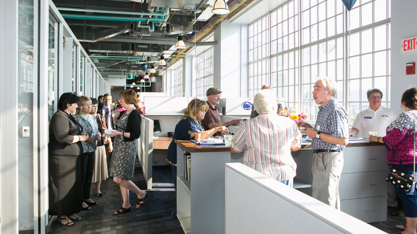 Energy Innovation Center open house in 2015