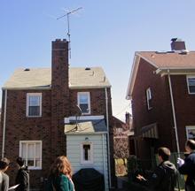 A group of students visiting Larimer, PA